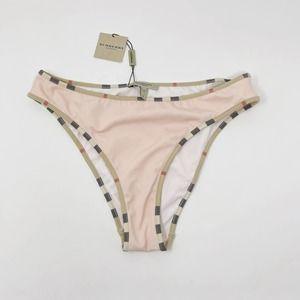 New Burberry Rose Quartz Bikini Bottom Nova Check
